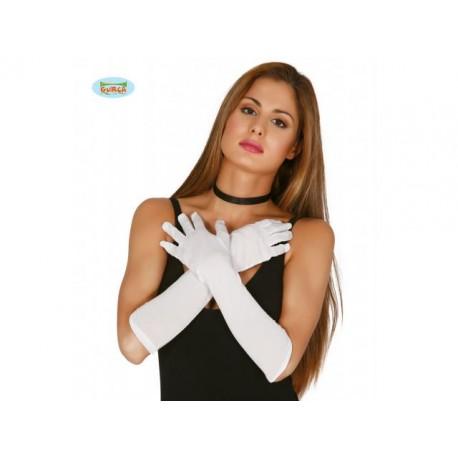 Weiße Handschuhe 60 Cm