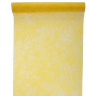 Chemin de table fanon, jaune, 30 cm x 5 mètres