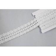 Ruban en dentelle 22 mm x 3 mètres, blanc