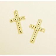Motif croix, 10 pièces, or