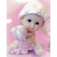 """1 Bébé fille collection """"Arthur et Zoé"""" 6,5 cm de hauteur"""
