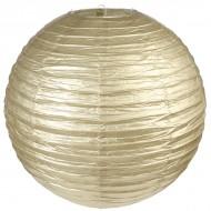 Lanterne métallisée XL, or, ø 50 cm