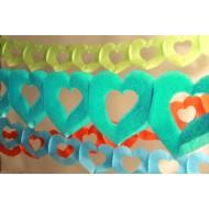Girlande zwei Herze, 4m en SC grün