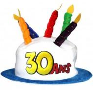 """1 Geburtstag-Hut """"30 ans"""""""