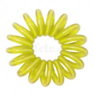 12 Bracelets ressorts, plastique, jaune