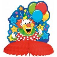 1 Clown centre de table, hauteur 23 cm ø 20 cm