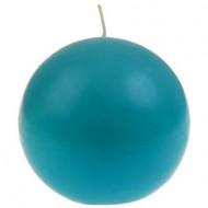 Bougie boule, turquoise, ø 7.5 cm
