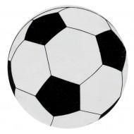 50 Fussball Konfetti, ø 2 cm, weiss