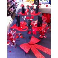 Idée décoration de table rouge et noir