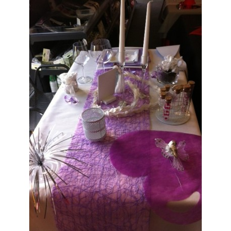 Idée décoration table, purple