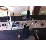 Idée décoration de table gris et noir