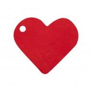 10 Marques-place, coeur, 4 x 4 cm, rouge