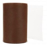 Bande de tulle, 20 m x 10 cm , chocolat
