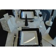 Idée décoration de table, blanc et noir