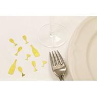 Confettis de table, coupe champagne et bouteille, 10 gramme