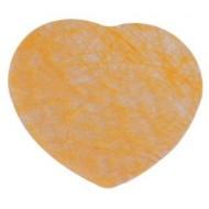 50 Confettis coeurs, intissés, mandarine, 5 cm env.