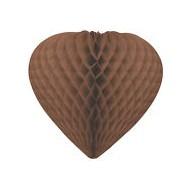 Suspension coeur 3D, ø 30 cm, chocolat