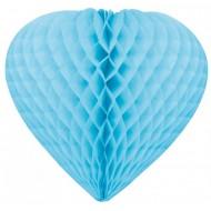 Suspension coeur 3D, ø 30 cm, turquoise