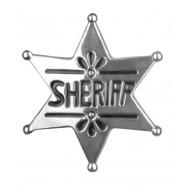"""Insigne de """"Sheriff"""", étoile, argent"""
