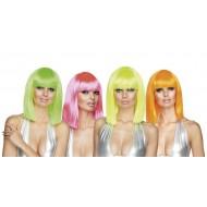 Perücke Dance Neon, 4 verschiedene Farben