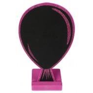 Marque-place ballon, paillettes, ardoise, fuchsia, 10 x 15 cm