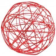 Assortiment boules métal rouge, 4-5-7 cm, sachet de 10 pièces