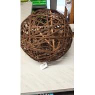 Boule en rotin fibre large brun foncé, ø 10 cm
