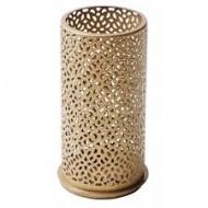 Metall-Kerzenhalter für Maxi-Teelichter oder LED, 14 x 7,5 cm, Bliss Gold