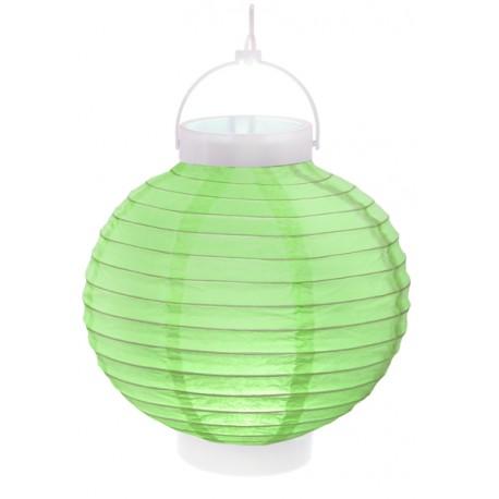 Lampions Mit Led : lampion mit licht led 20 cm gr n ~ Watch28wear.com Haus und Dekorationen