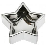 Coupelle étoile, 10 x 10 x 3.5 cm, argent