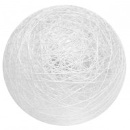 4 Boules coton, ø 5 cm, blanc