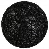 4 Boules coton, ø 5 cm, noir