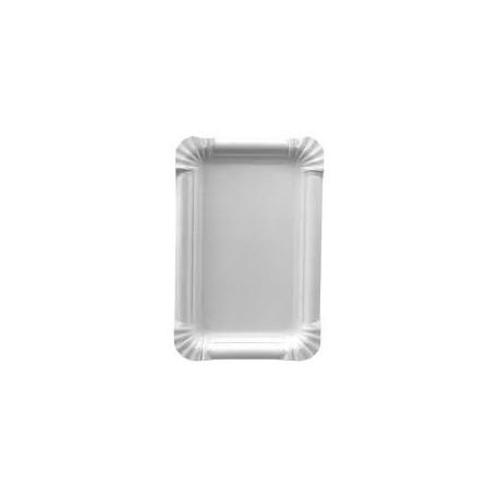 250 assiettes en carton rect. 13 x 20 cm, blanc