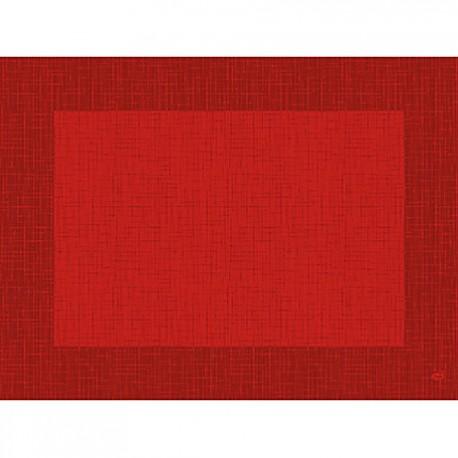 100 Sets De Table Papier 30x40cm Linnea Rouge