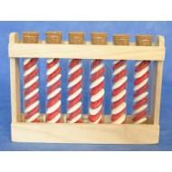 Support pour 6 éprouvettes de 15cm, en bois, hauteur 16cm lagueur 22cm