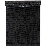 Chemin de table suédine , 28cm x 5m, noir