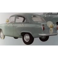 """Kit voiture """" Vive les mariés"""" Blanc"""