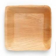 25 Assiettes carrées, en feuille de palmier 16x16x1.5cm.