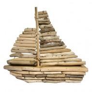 Bâteau en bois 28cmx28cm