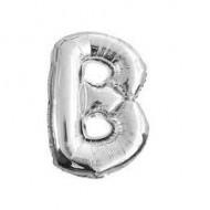 Silberner Ballon Buchstabe B, 36cm.