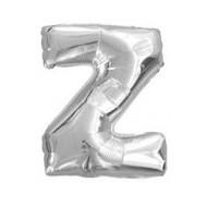 Ballon argenté lettre Z, 36cm.