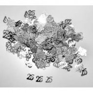 """Confetti Tischnummer """"25"""", 10gr. Silber"""