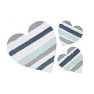 3 Coeurs en bois déco 2 tailles, GM10 cm et PM 5cm