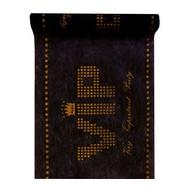 Chemin de table VIP, noir, 30 cm x 5 mètres