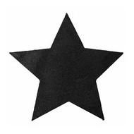 Sets de table étoile pailleté noir, sachet de 2 pièces
