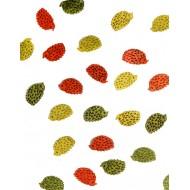 24 Hérissons bois, 3 couleurs assorties, 2 x1 cm
