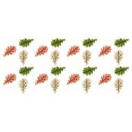 24 Mini feuilles automne 2cm couleurs assorties