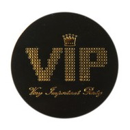 Confettis VIP noir, sachet de 50 pièces