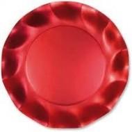 10 Coupelles en carton Ø18,5cm rouge satiné
