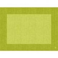 10 sets de table, maître uni, 30 x 40 cm, kiwi